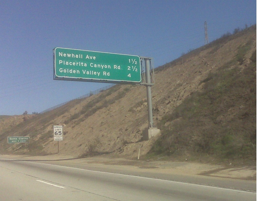 Freeways signs changed on the 14 freeway
