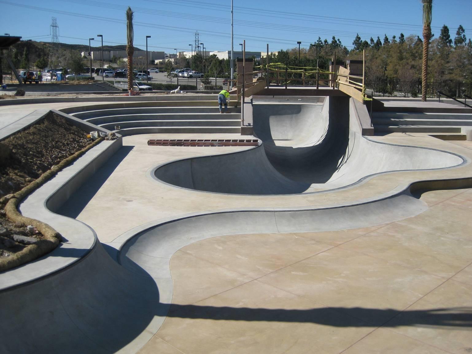 Skatepark en construcción