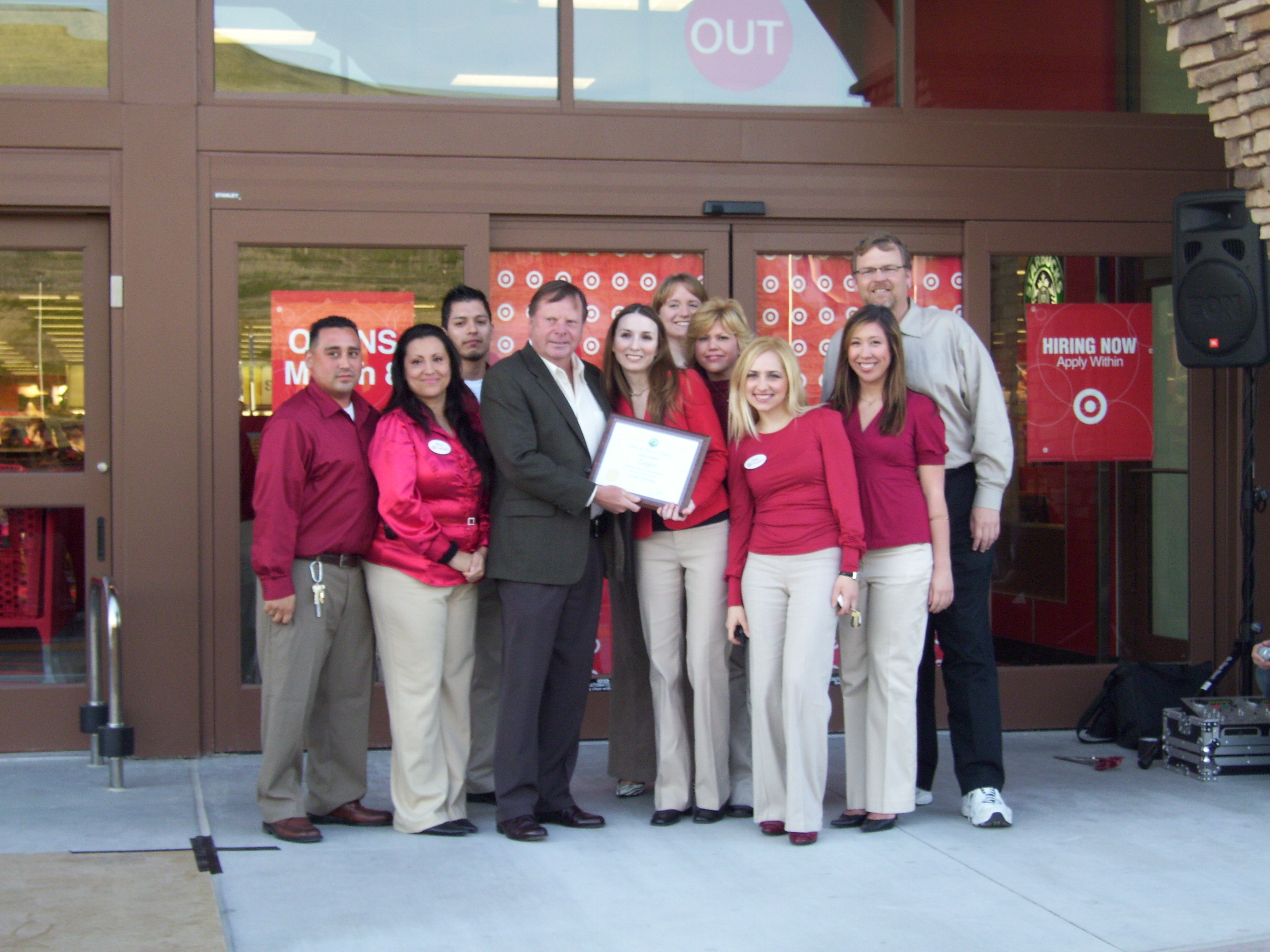 Mayor Ferry and Councilmember Bob Kellar helped cut the ribbon for the new Target in Canyon Country