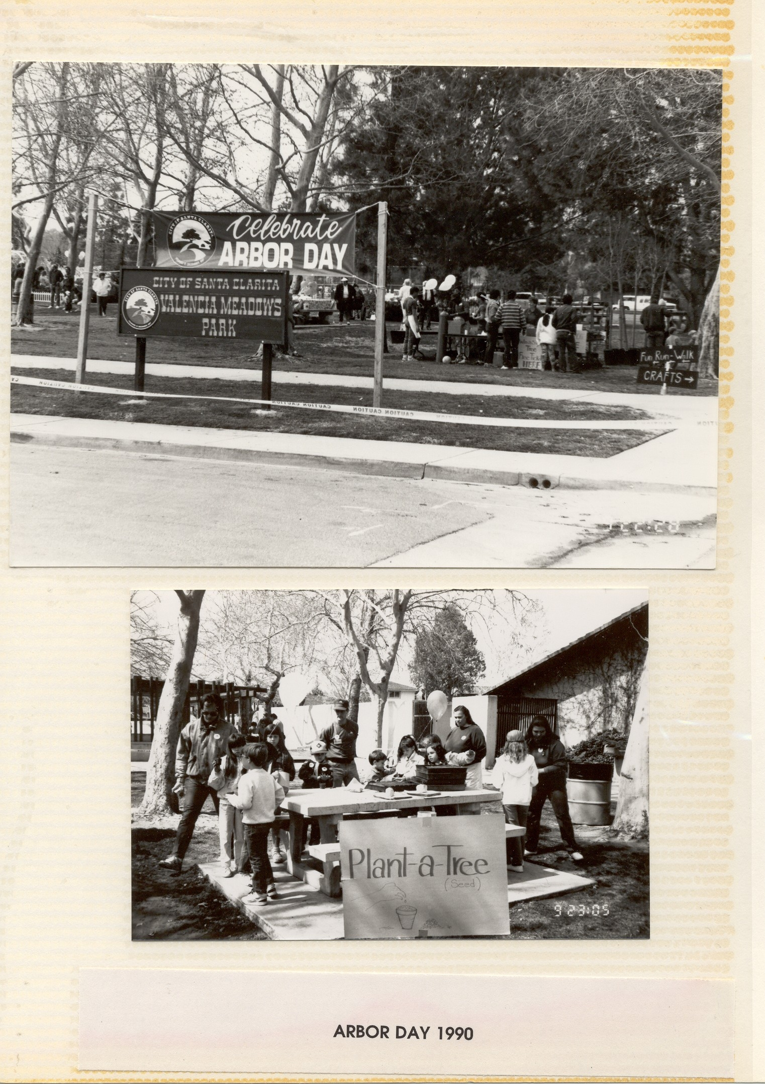 Photo's preserved from the City of Santa Clarita's first Arbor Day event in 1990.