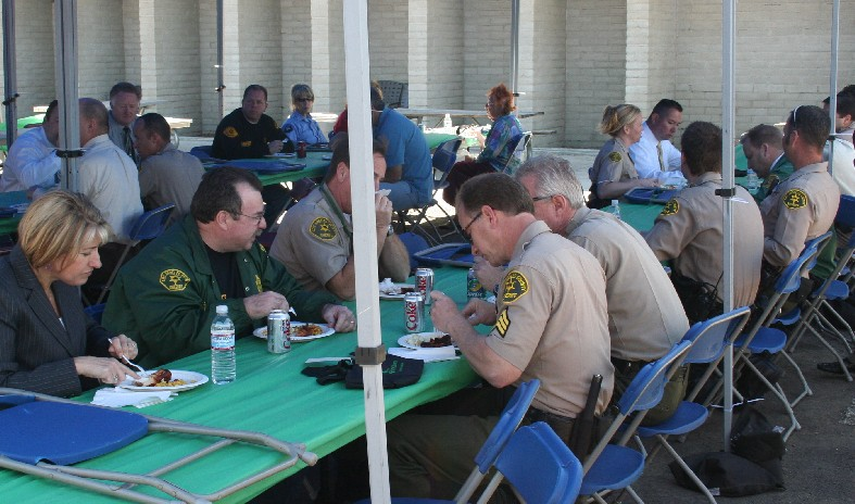 Sheriff's enjoyed a special barbeque as part of SCV Sheriff Appreciation Day.