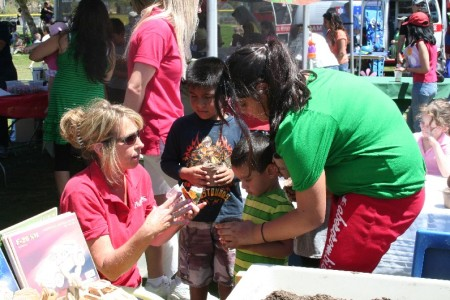 "Children got a chance to get their hands dirty while learning about ""green"" living."
