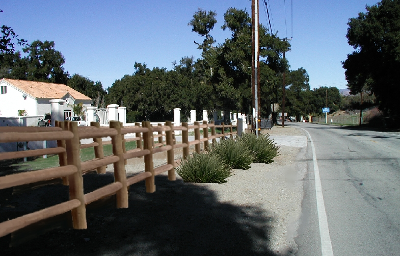 Pre-construction rendering of Sand Canyon equestrian trail.