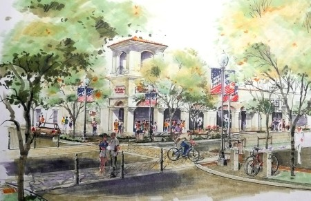 Old Town Newhall is envisioned to become an Arts & Entertainment District