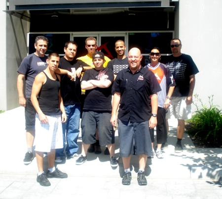 Pictured (in random order): Team Marzocchi USA - Korla Mock, Felipe Alcala, Chris Arnold, Mike Gold, John Pelino, Ronnie Dilan, John Herrick, Tom Rogers, Moises Cortez