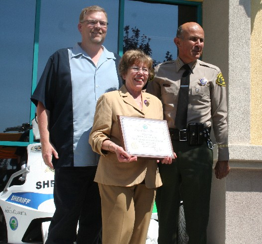 l-r: Mayor Frank Ferry, Councilmember Marsha McLean, Sheriff Lee Baca