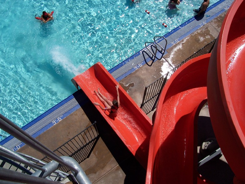 The 160 foot water slide is a definate rite of passage for Santa Clarita youth