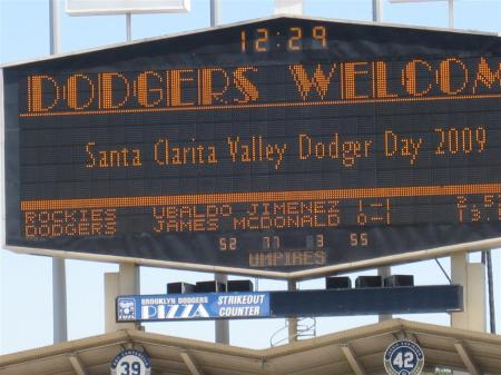 The Los Angeles Dodgers welcomed Santa Clarita