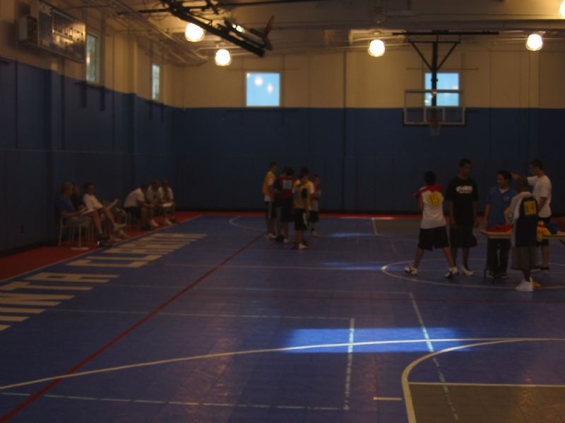 Youth basketball at the sports complex