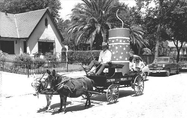 Tom Frew's Blacksmith Shop won in 1953 for best themed float