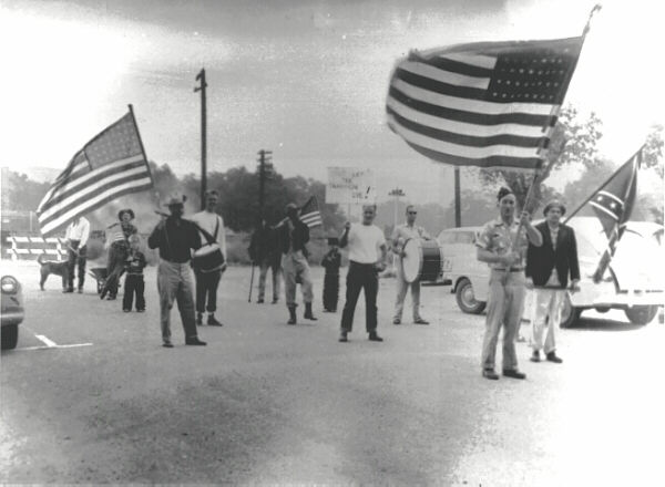 Pictured is the entire 4th of July Parade from 1955 (via SCVHistory.com)