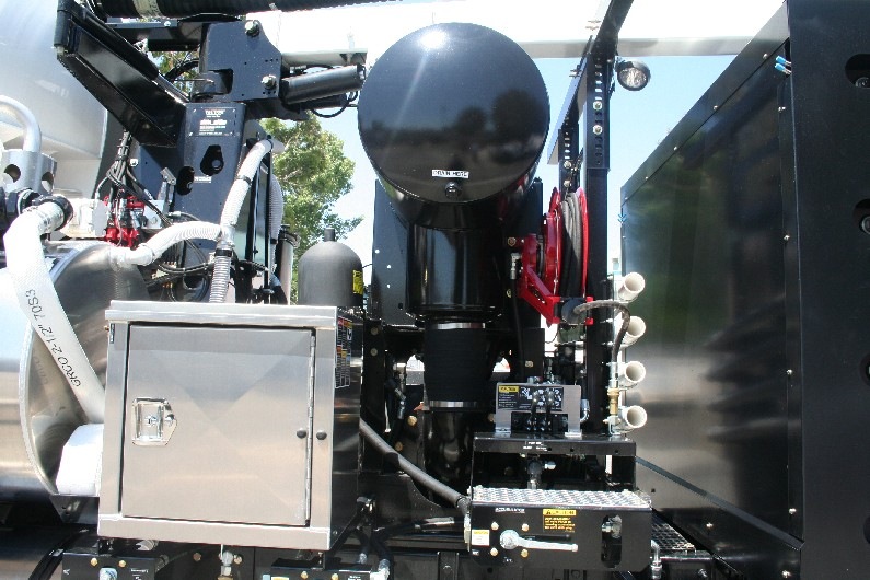 The Vactor is powered by clean burning CNG fuel