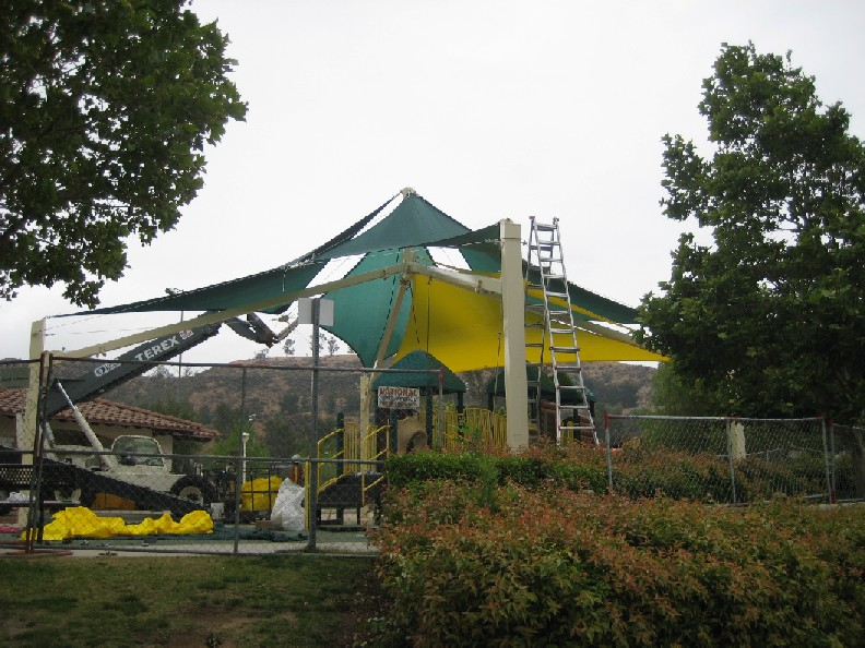 New shade structure installed at Central Park