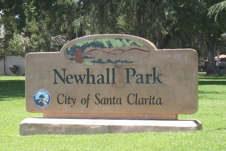 newhall park sign