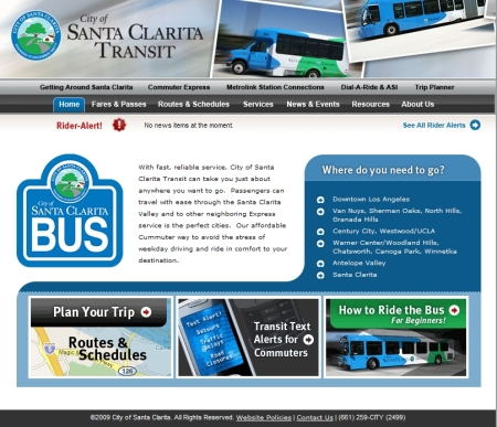 A convienient trip planner is among the new additions to the Santa Clarita Transit website