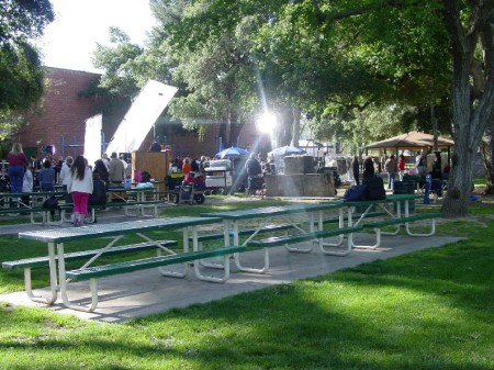 Pictured is location filming at Newhall Park