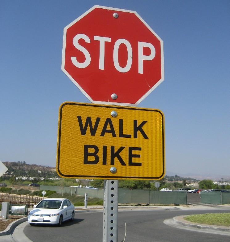 stop walk bike