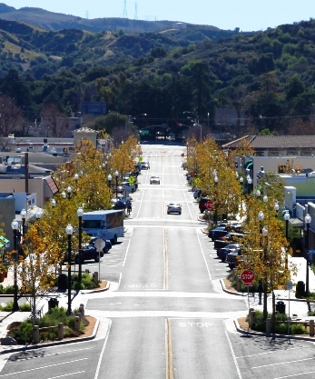 Main Street in Old Town Newhall.
