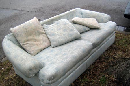 couch on curb bulky trash