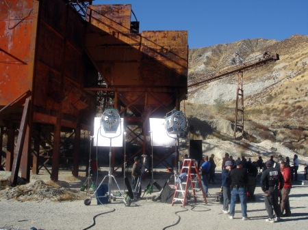 Filming at the Mine