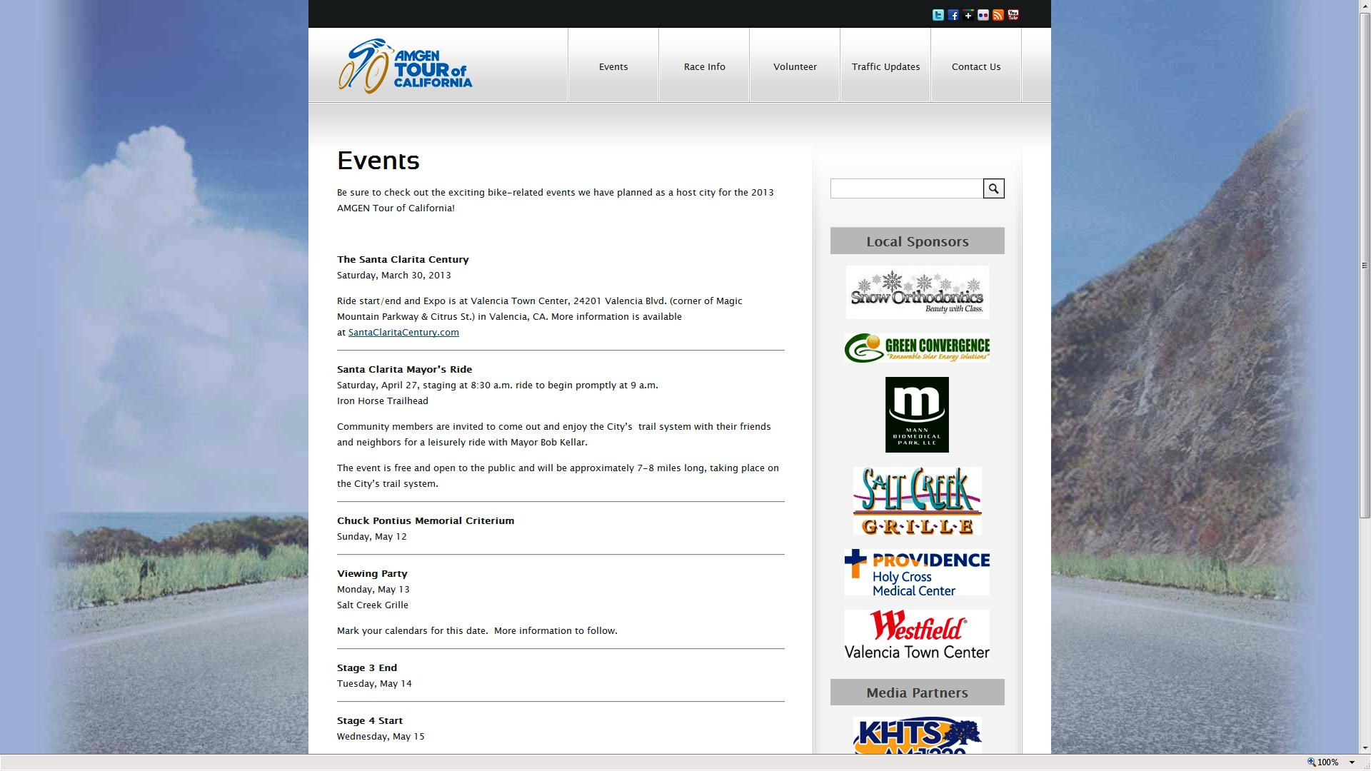 Click for more information on events.