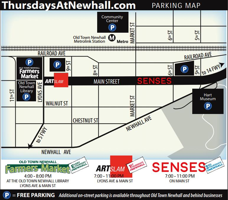Thursdays@Newhall Parking Map