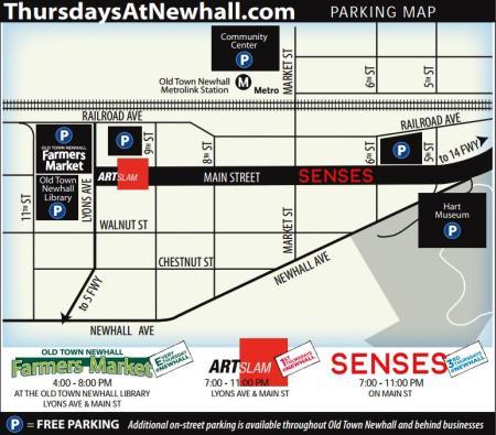 Thursdays@Newhall Parking Map