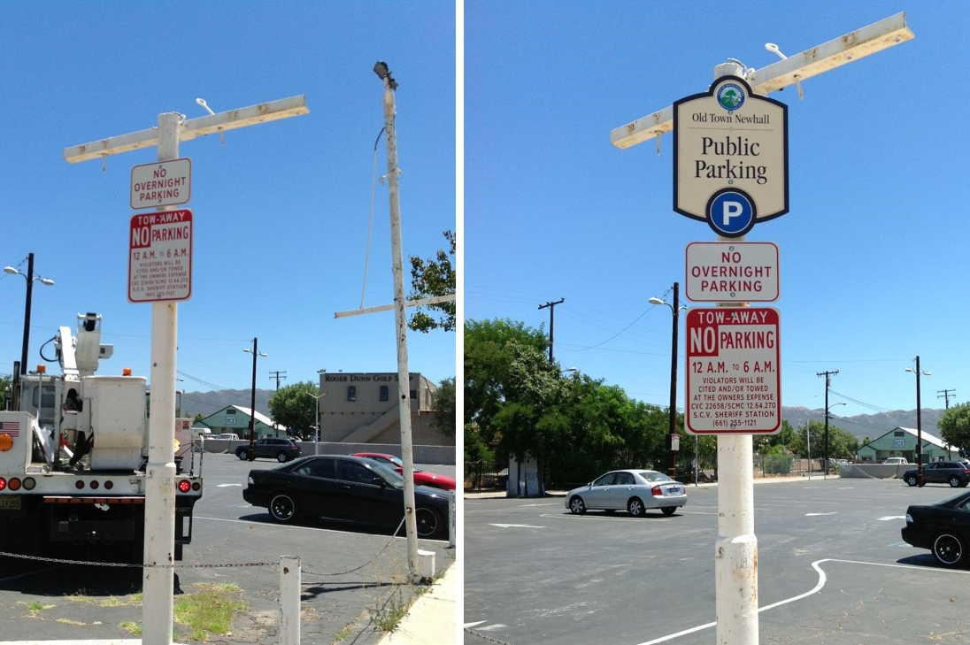 OTN Parking Sign Before After 1