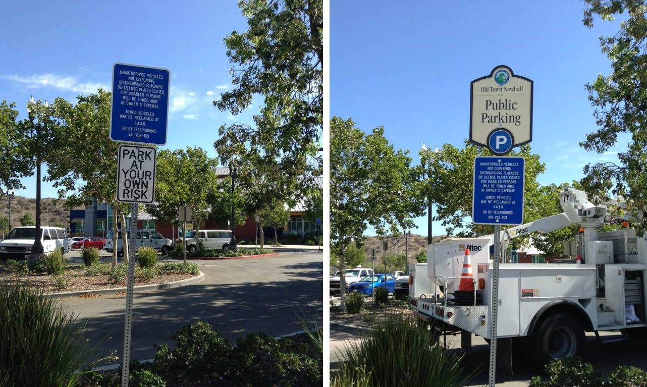 OTN Parking Sign Before After 3