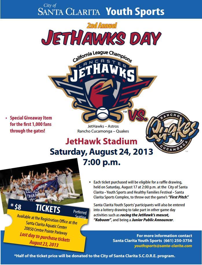 2013 Jethawks Day FLyer