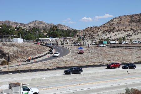 14 freeway Sand Canyon on off ramps 2