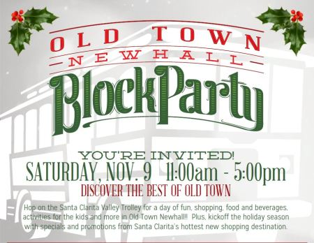 Old Town Newhall Block Party flier