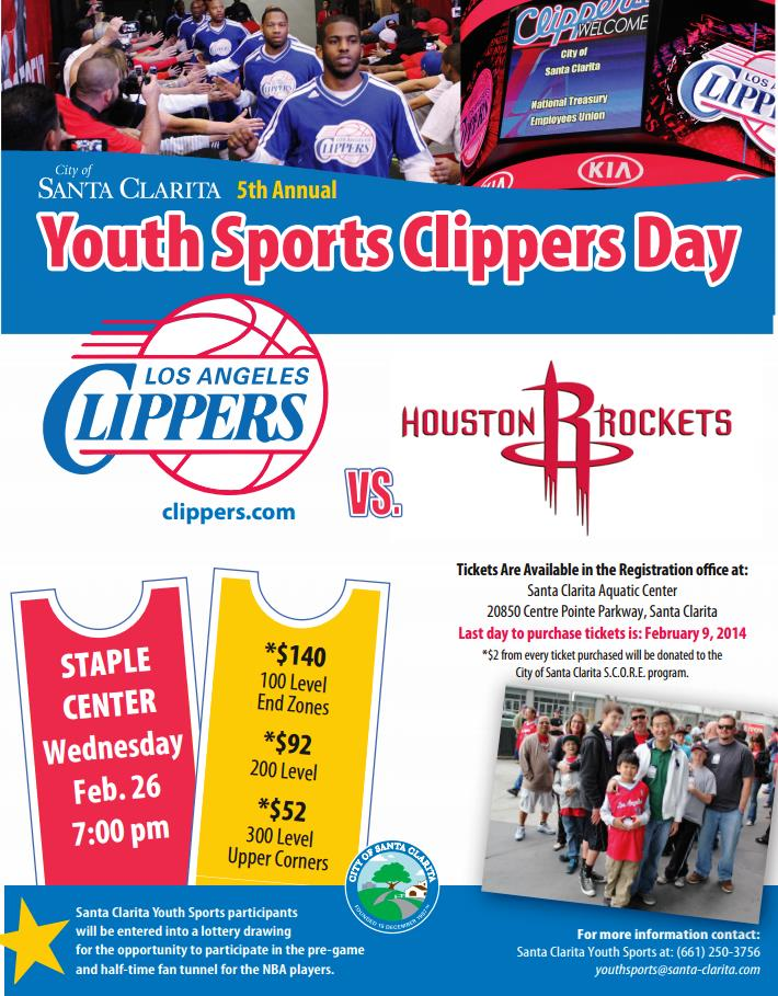 Youth Sports Clippers Day 2013