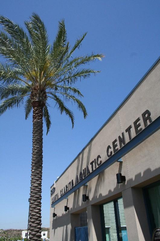 The Santa Clarita Aquatic Center is located at 20850 Centre Pointe Parkway