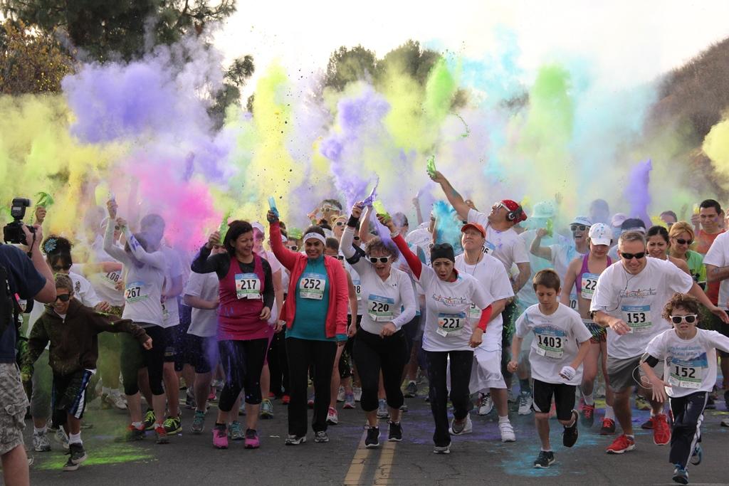 Santa Colorita Run Color Run 201401