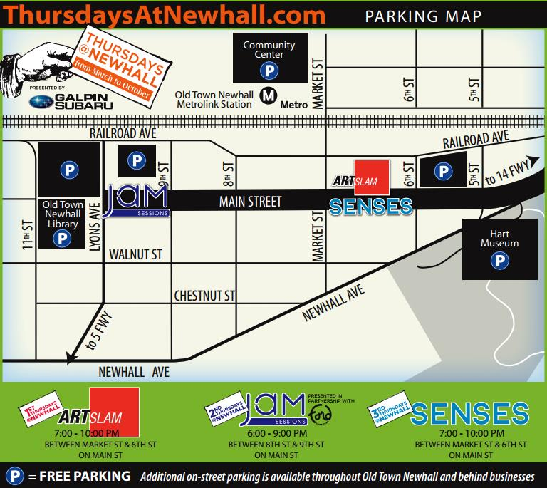 Thursdays at Newhall Parking 2014