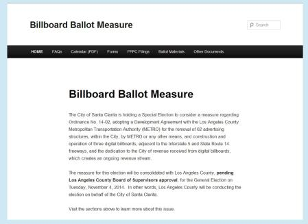 Billboard Ballet Website