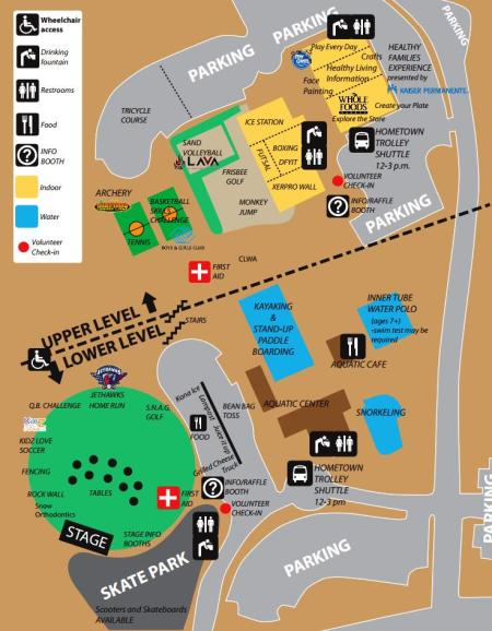 2014 Youth Sports Festival Map
