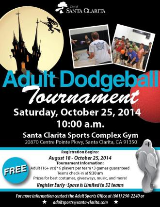 Adult Dodgeball Halloween Edition Flyer