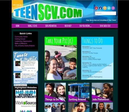 TeenSCV Frontpage
