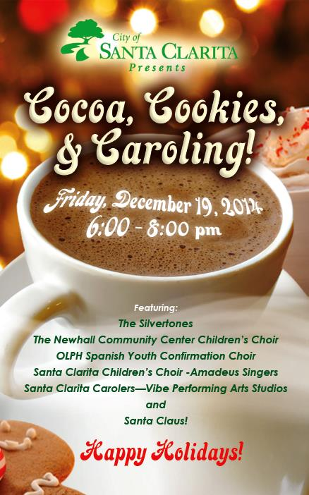 Cocoa, Cookies and Caroling Flyer 2014