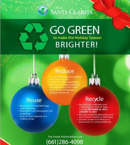 Go Green Holiday Season Flyer