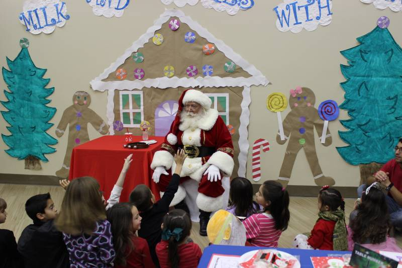 MIlk and Cookies with Santa 2014 1