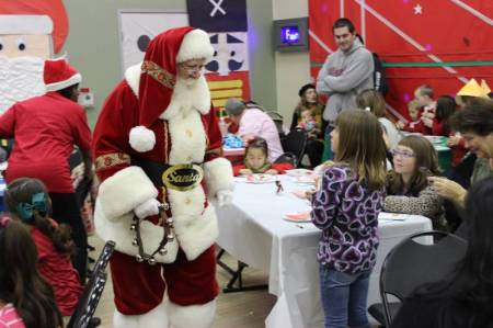 MIlk and Cookies with Santa 2014 2