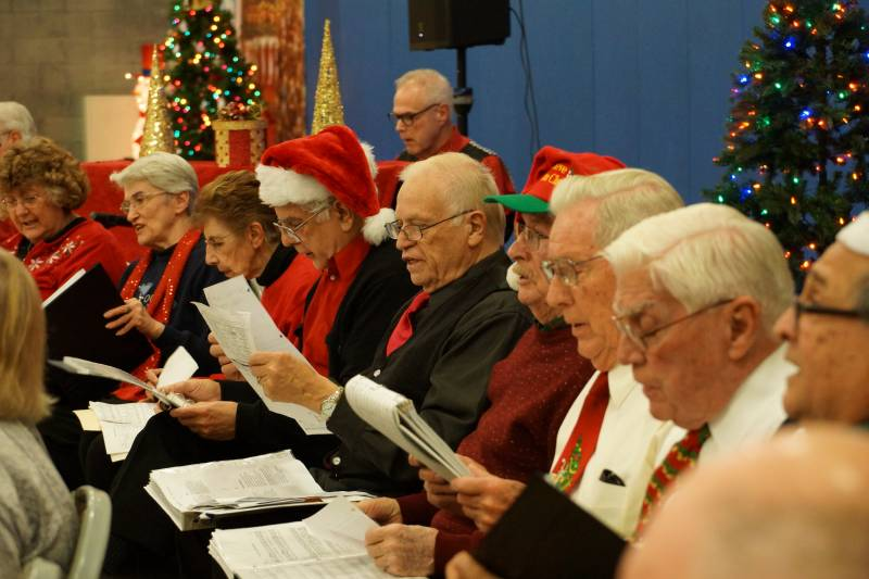 Newhall Community center Caroling 2014 2