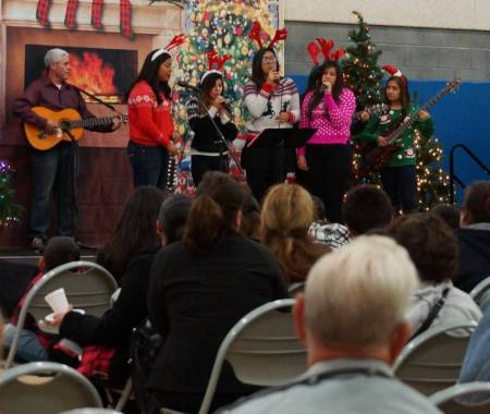 Newhall Community center Caroling 2014 6