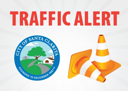 Lane closures in effect this weekend on Newhall Avenue.