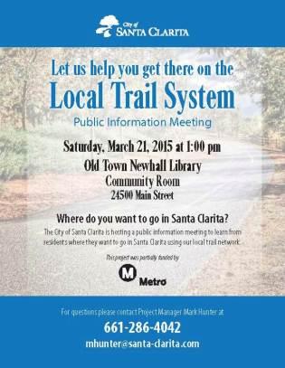 Trails Signage Workshop flyer
