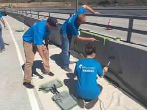 Cross Valley Connector Fallen Warriors Bridge Painting Project 3
