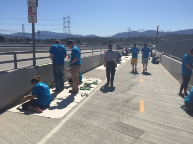 Cross Valley Connector Fallen Warriors Bridge Painting Project 4